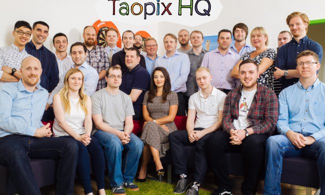 Taopix team in Taopix office