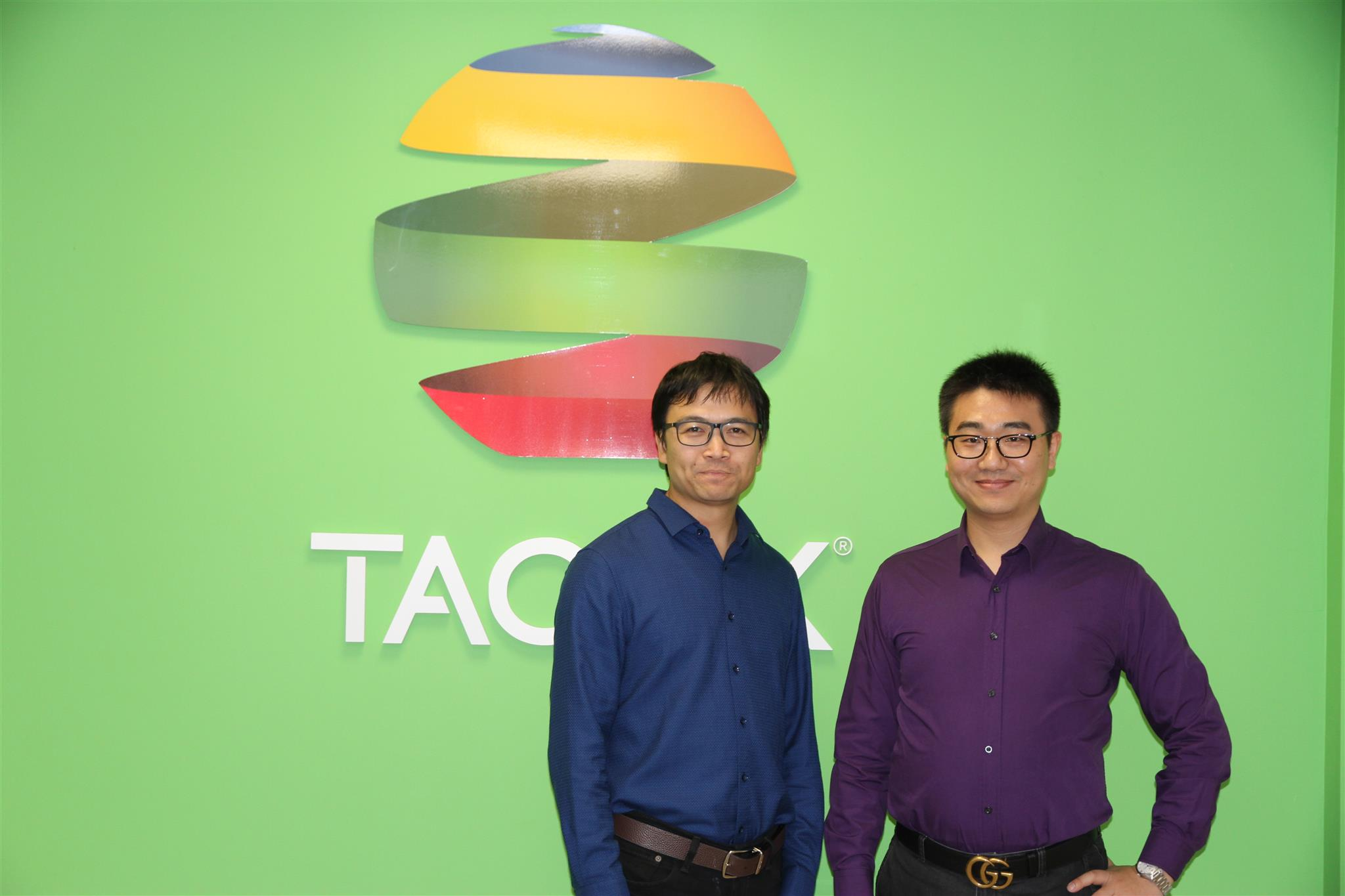 Leo Zhu, Arthur Wang in Taopix office