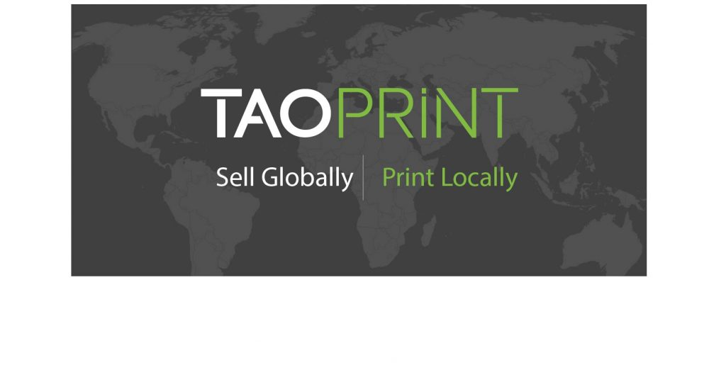 Taoprint logo sell globally print locally