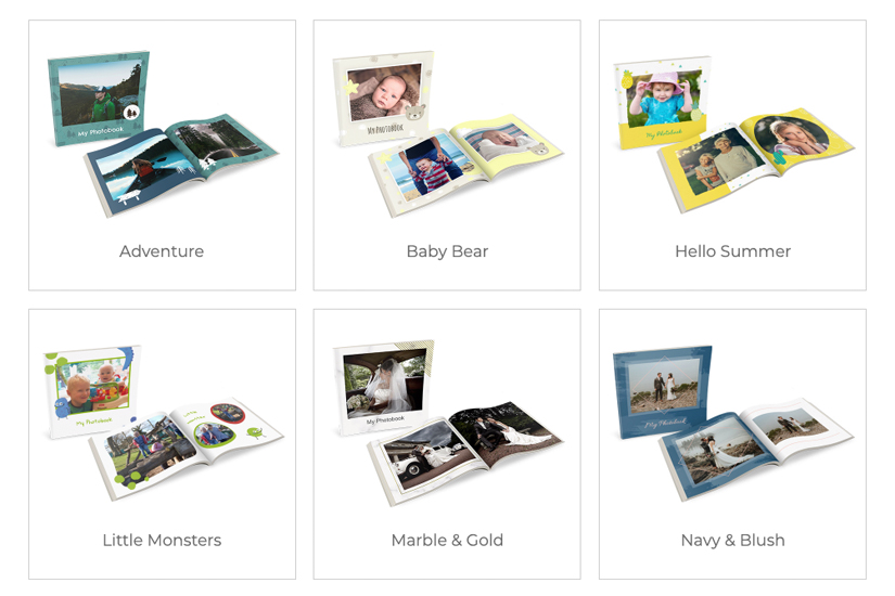 Themed photobook designs